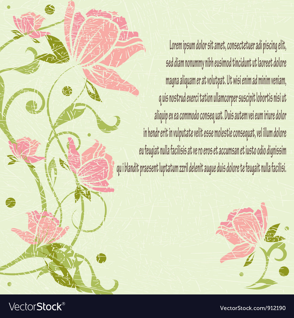 Floral romantic pattern vector | Price: 1 Credit (USD $1)