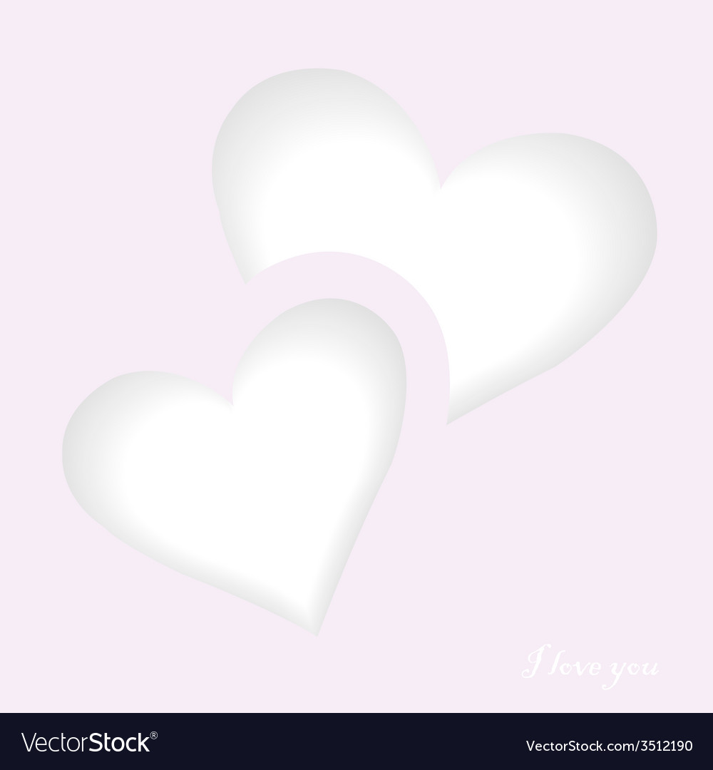 Love card with two hearts vector | Price: 1 Credit (USD $1)