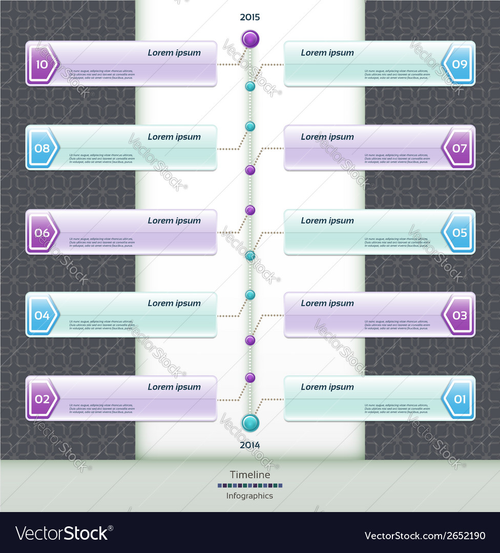 Modern timeline design template eps 10 vector | Price: 1 Credit (USD $1)