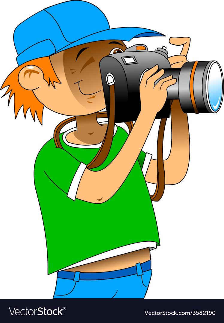 Photgrapher cartoon vector | Price: 1 Credit (USD $1)