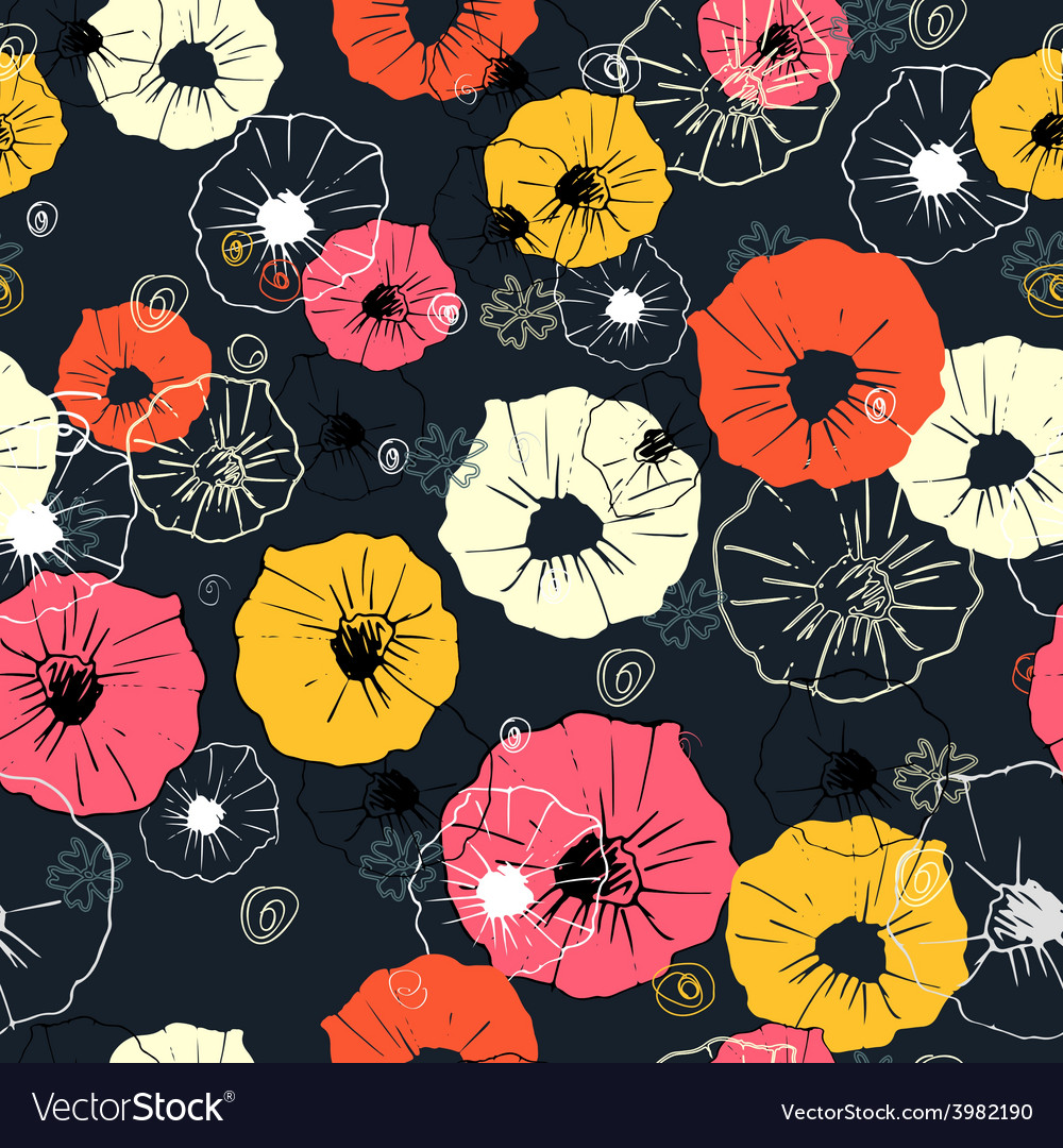 Seamless ornate decorative floral pattern vector | Price: 1 Credit (USD $1)