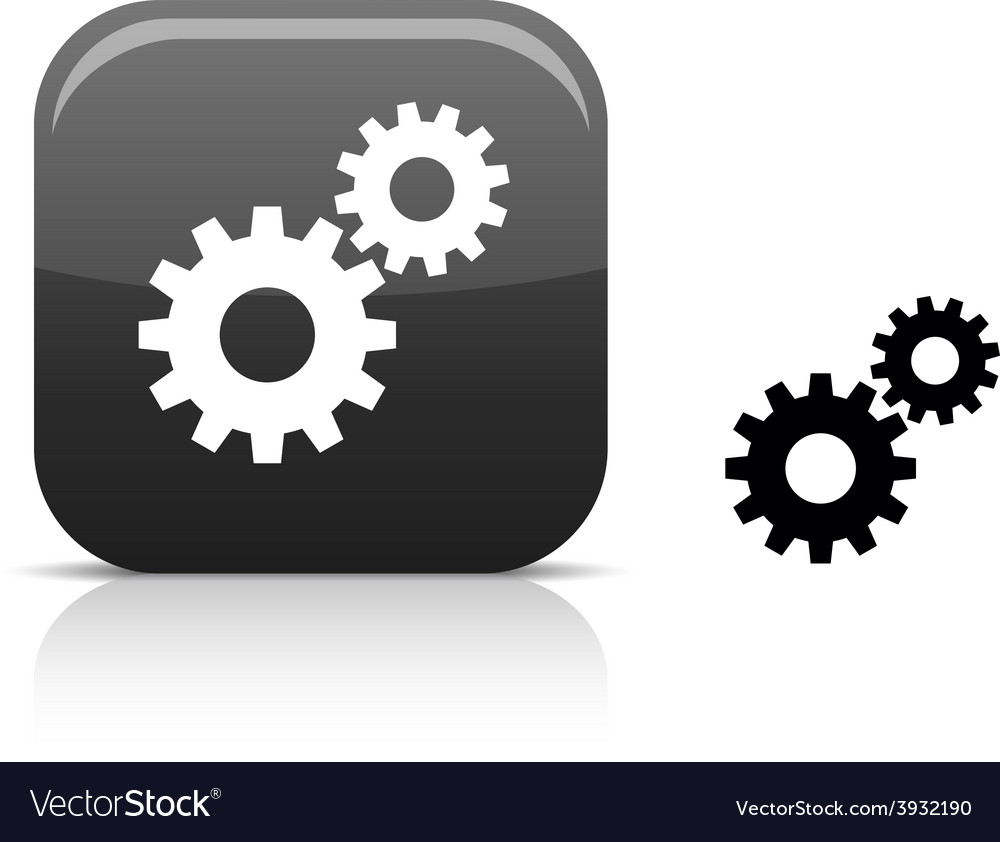 Settings icon vector | Price: 1 Credit (USD $1)