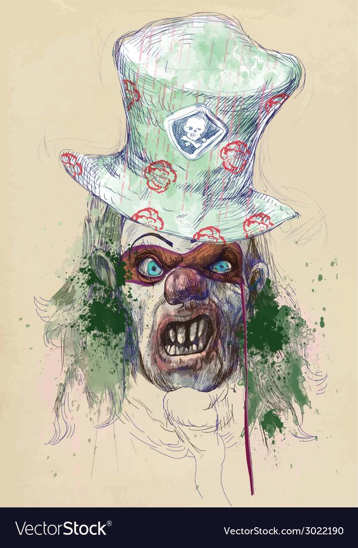 Spooky clown vector | Price: 3 Credit (USD $3)