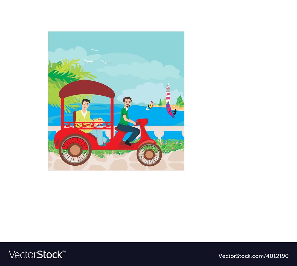 Tuk tuk taxi vector | Price: 1 Credit (USD $1)