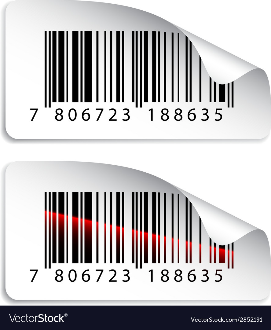 Barcode stickers vector | Price: 1 Credit (USD $1)