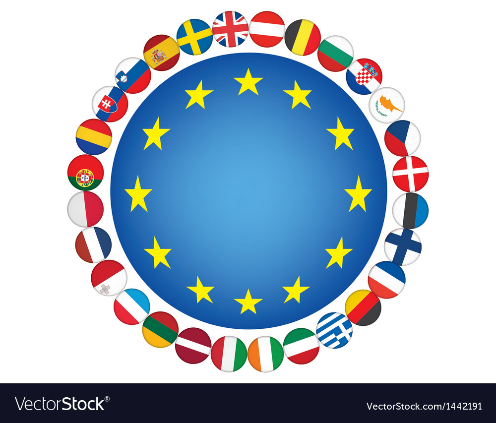 European union sign vector | Price: 1 Credit (USD $1)