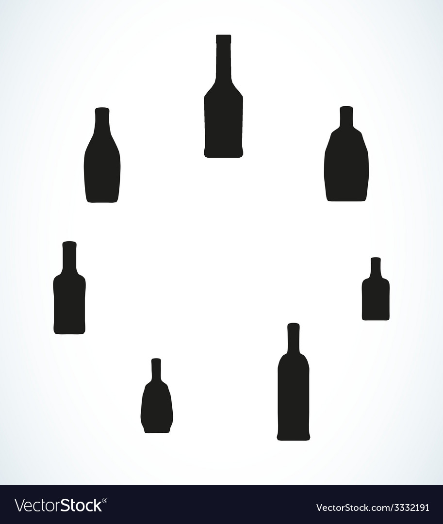 Few different bottles silhouettes vector | Price: 1 Credit (USD $1)
