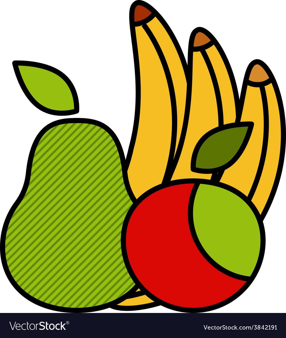 Flat fruit set vector | Price: 1 Credit (USD $1)