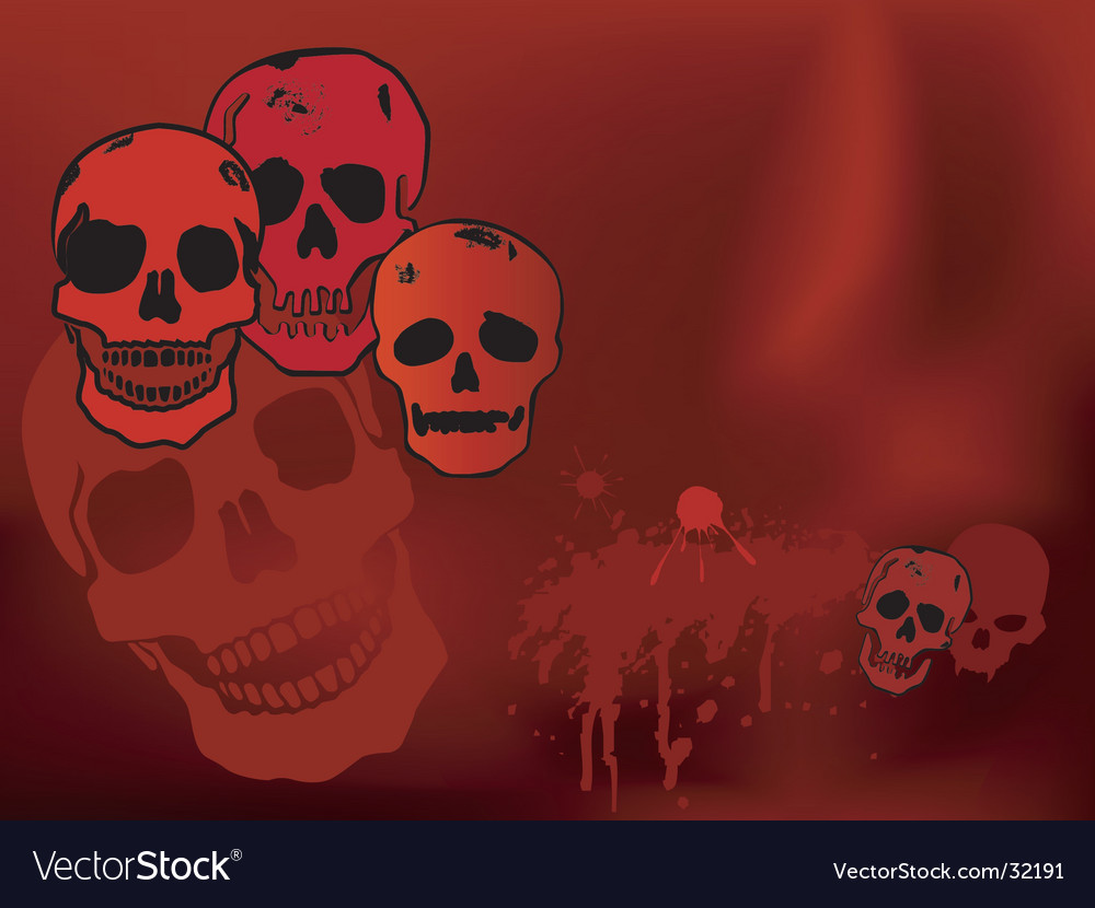 Halloween skulls vector | Price: 1 Credit (USD $1)
