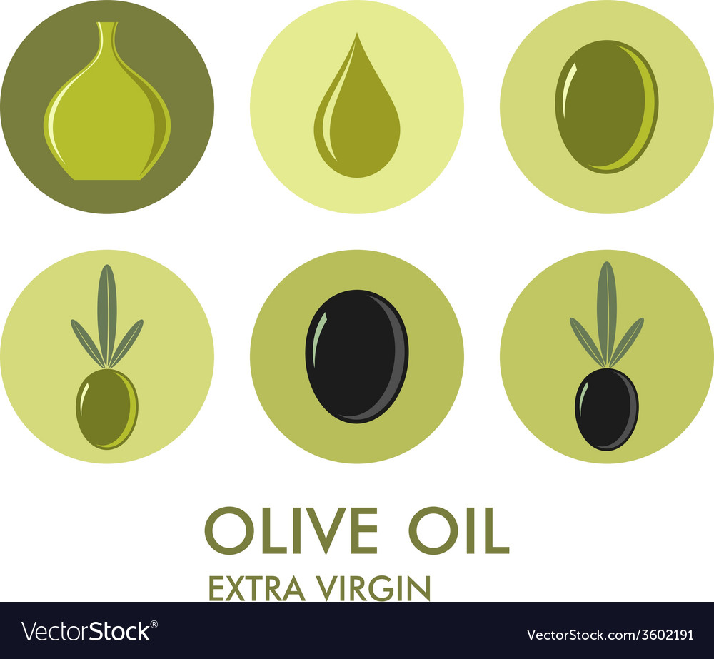 Olive icon set vector | Price: 1 Credit (USD $1)