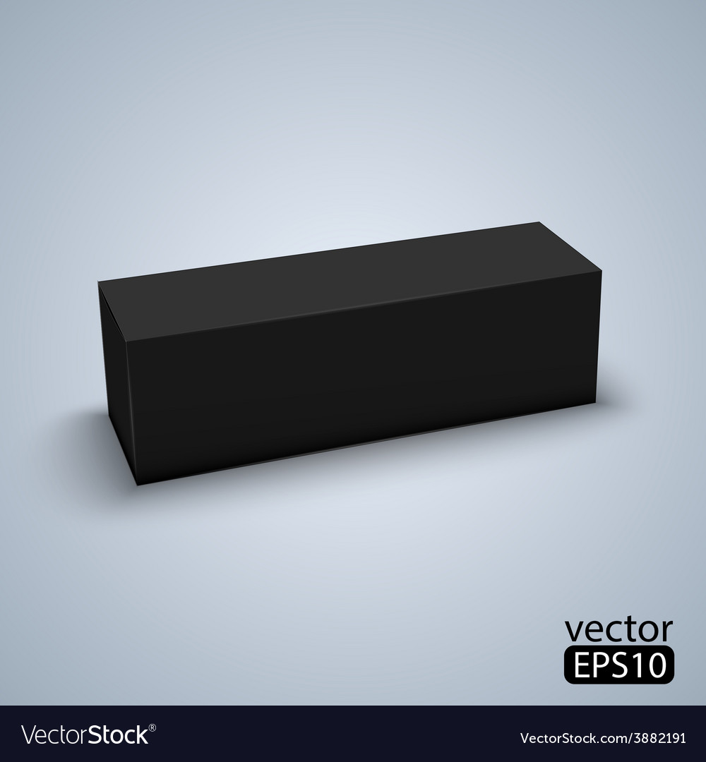 Package black box design vector | Price: 1 Credit (USD $1)