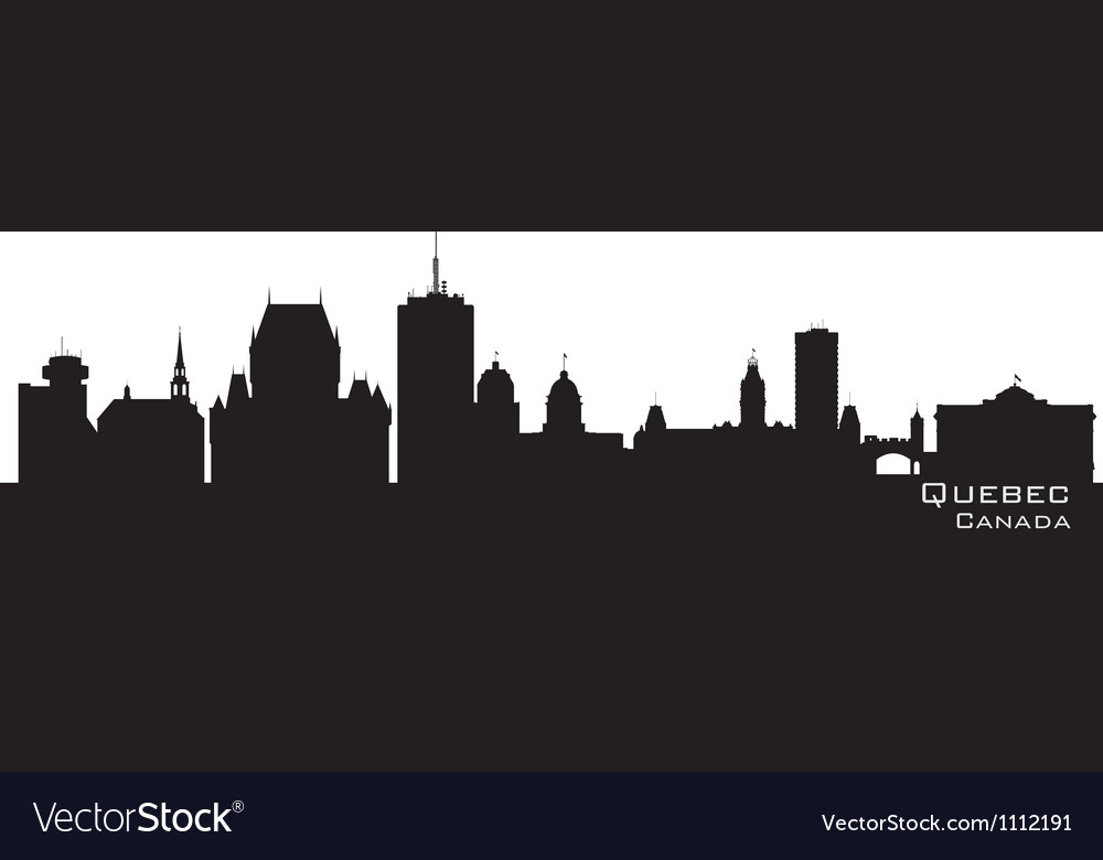 Quebec canada skyline detailed silhouette vector | Price: 1 Credit (USD $1)