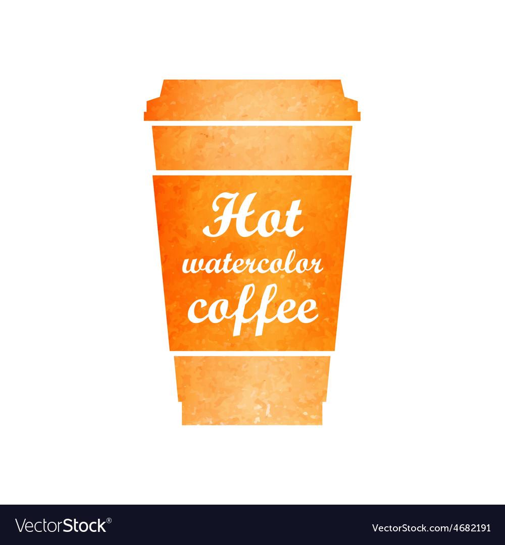 Watercolor tea or coffee cup vector   Price: 1 Credit (USD $1)