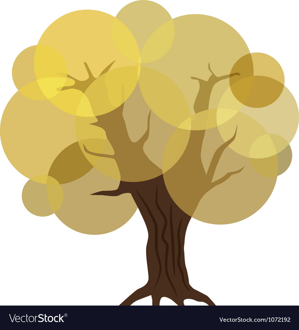 Abstract autumn tree eps10 vector | Price: 1 Credit (USD $1)
