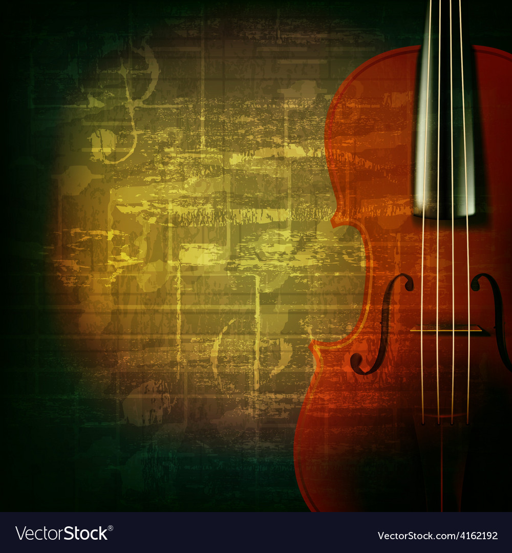 Abstract green grunge music background with violin vector | Price: 3 Credit (USD $3)