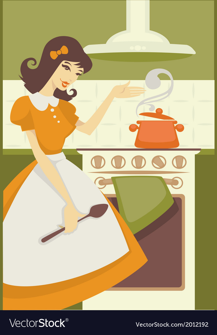 Cooking mom vector | Price: 1 Credit (USD $1)
