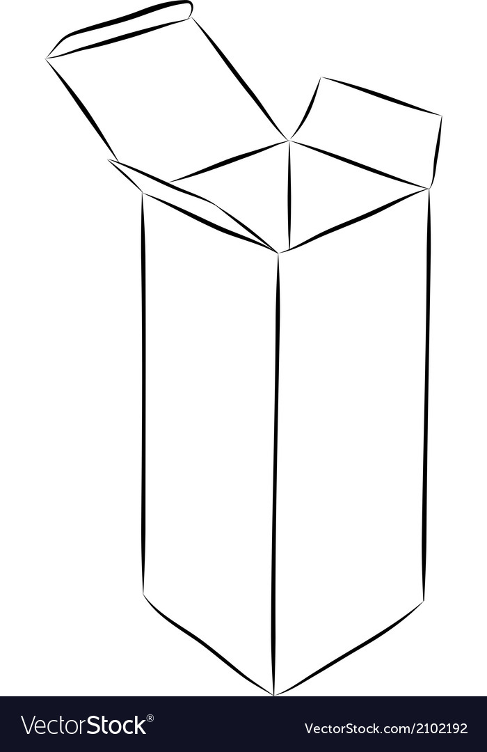 Drawing of box vector   Price: 1 Credit (USD $1)