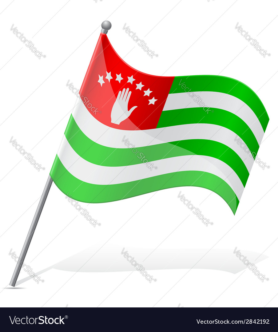 Flag of abkhazia vector | Price: 1 Credit (USD $1)