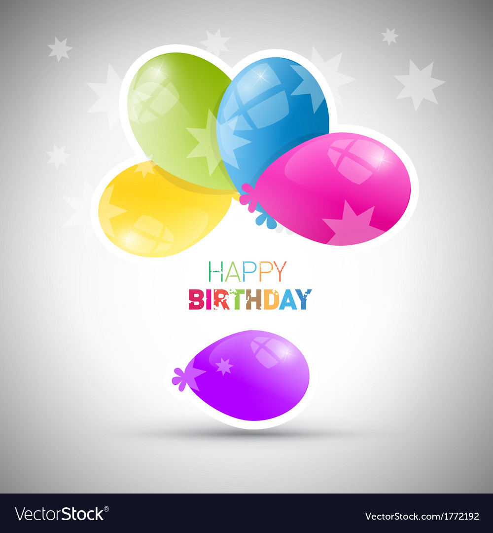 Happy birthday theme colorful air balls vector | Price: 1 Credit (USD $1)