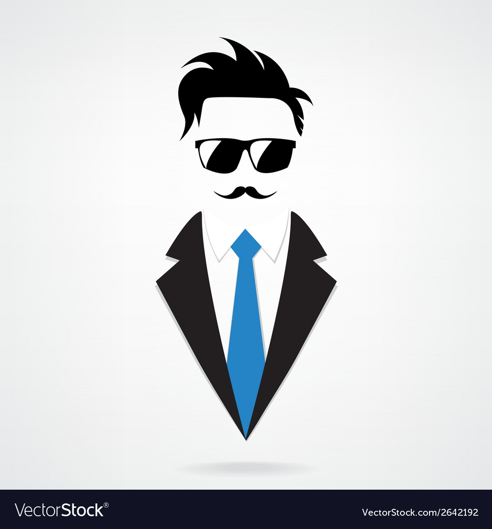 Hipster character for businessman vector | Price: 1 Credit (USD $1)