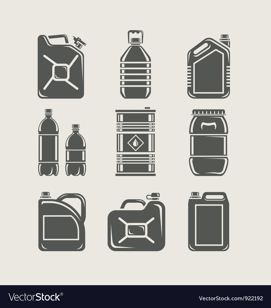 Plastic and metallic can set vector | Price: 1 Credit (USD $1)