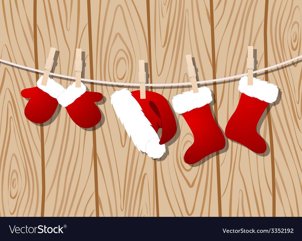 Santas clothes vector | Price: 1 Credit (USD $1)