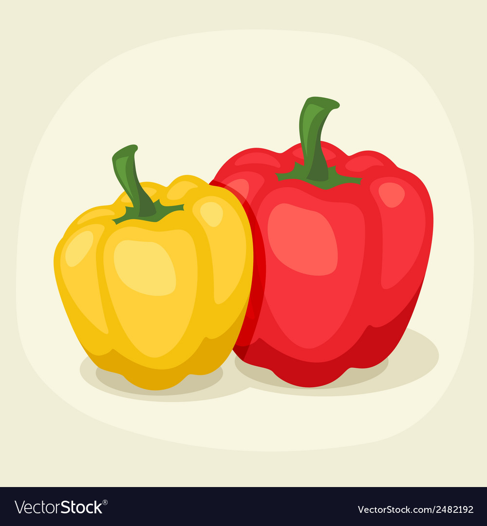 Stylized of fresh ripe peppers vector | Price: 1 Credit (USD $1)