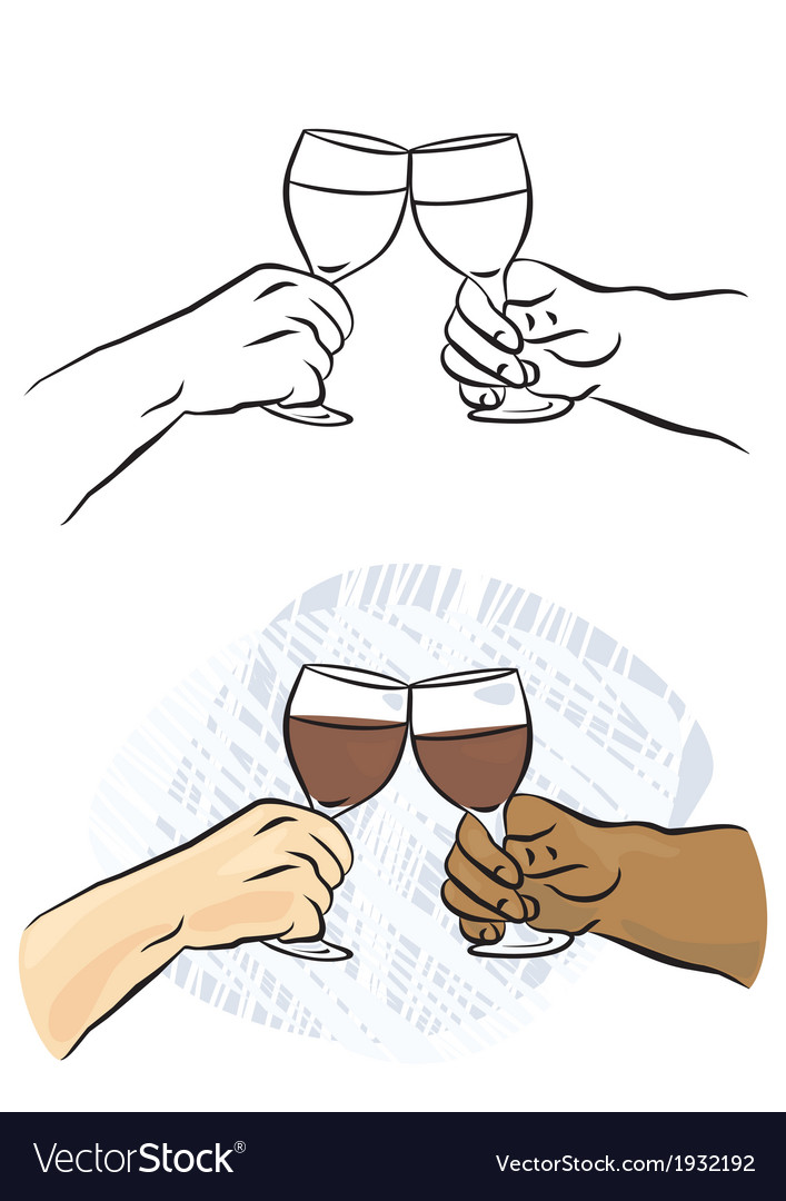 Toasting wine glasses vector | Price: 1 Credit (USD $1)