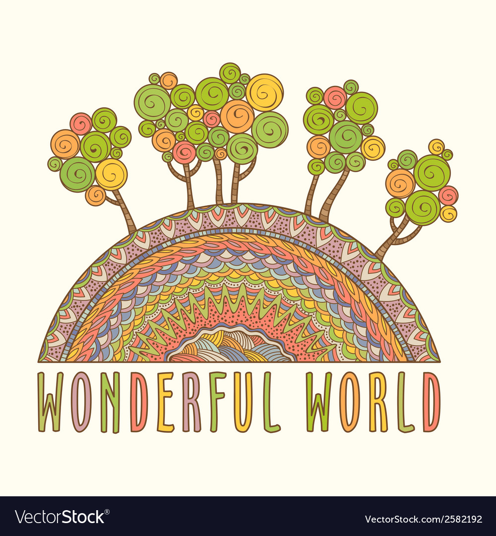 Wonderful world vector | Price: 1 Credit (USD $1)