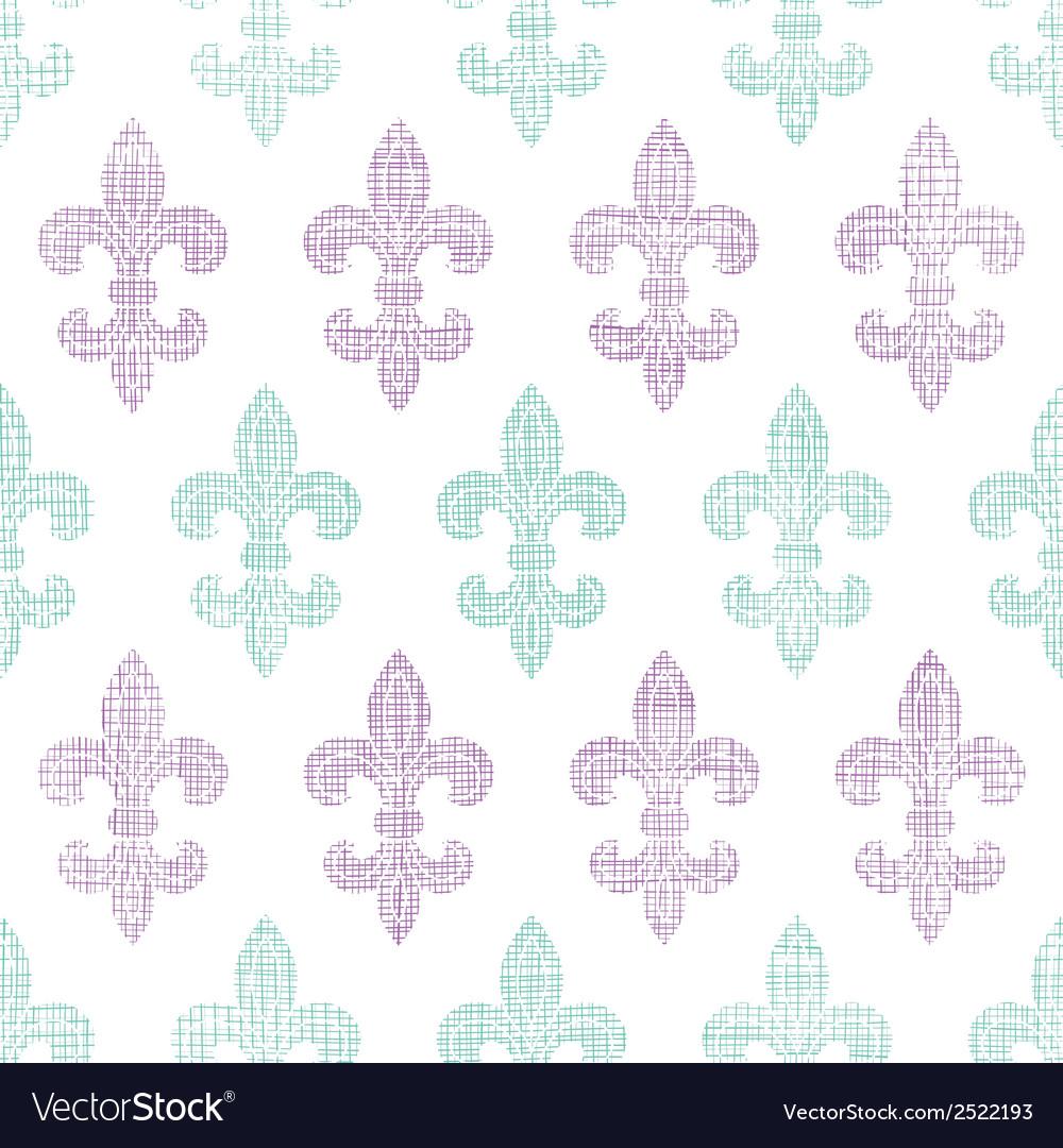 Abstract textile fleur de lis stripes seamless vector | Price: 1 Credit (USD $1)