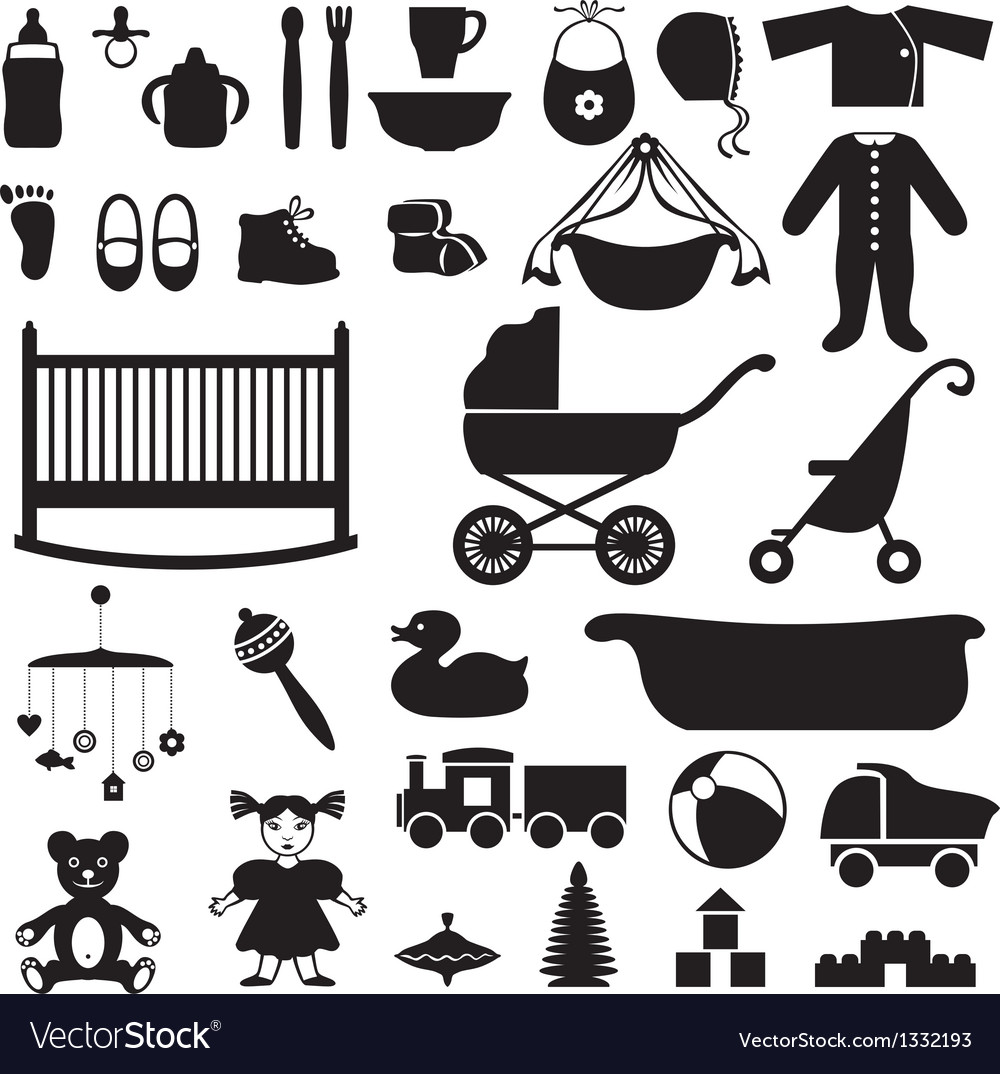 Baby set vector | Price: 1 Credit (USD $1)