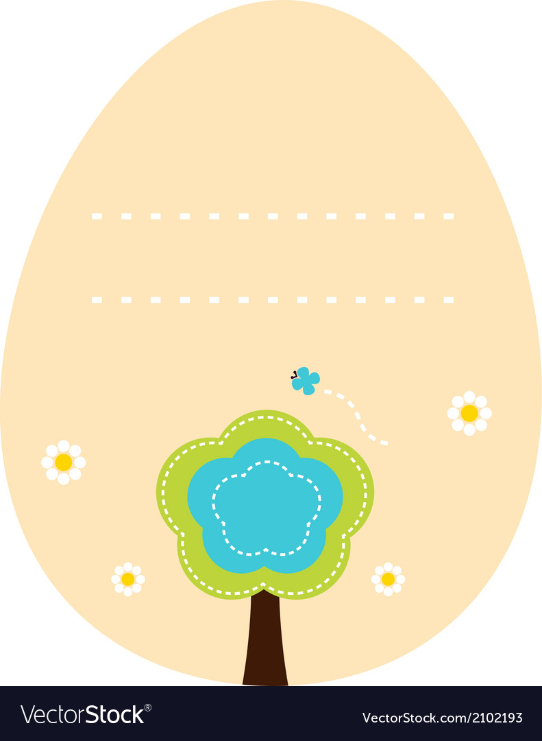 Beautiful easter egg with copy space vector | Price: 1 Credit (USD $1)