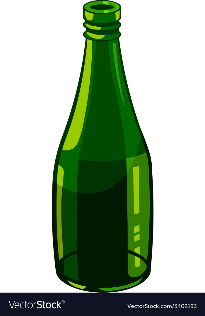 Bottle of green glass vector | Price: 1 Credit (USD $1)