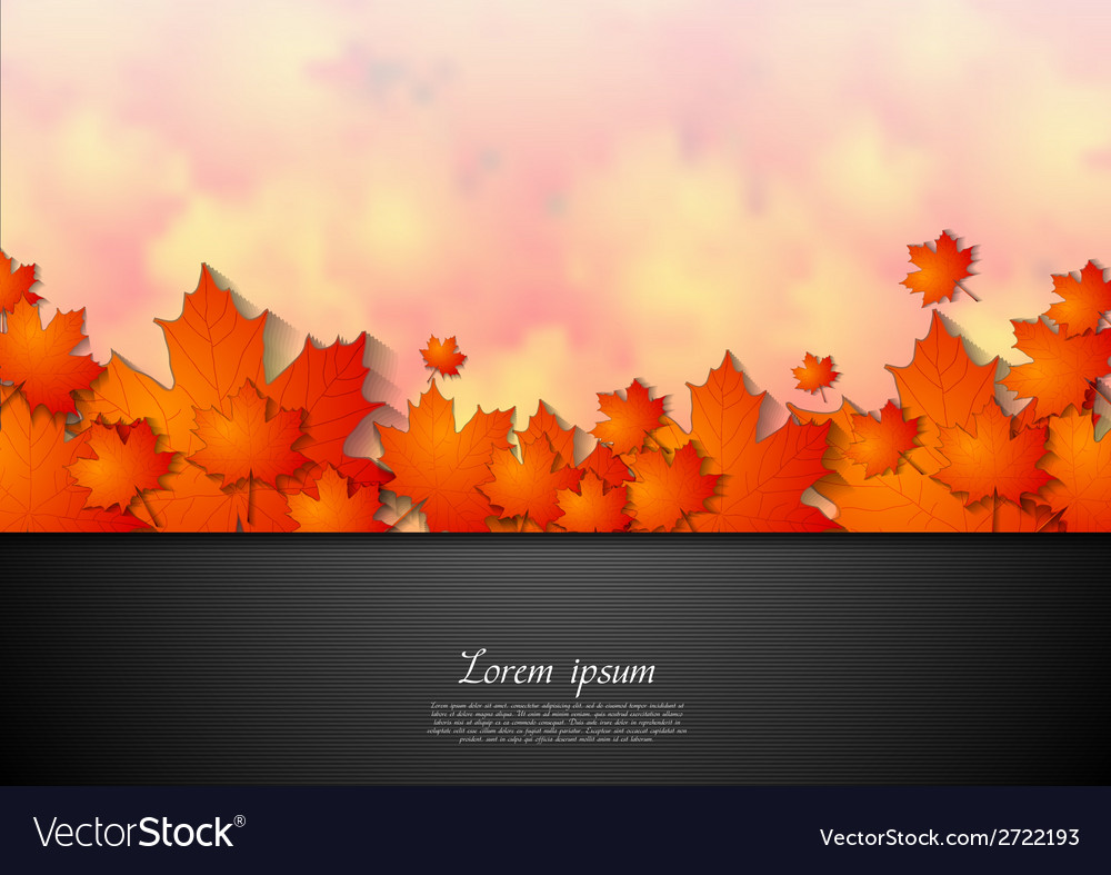 Bright corporate autumn background vector | Price: 1 Credit (USD $1)