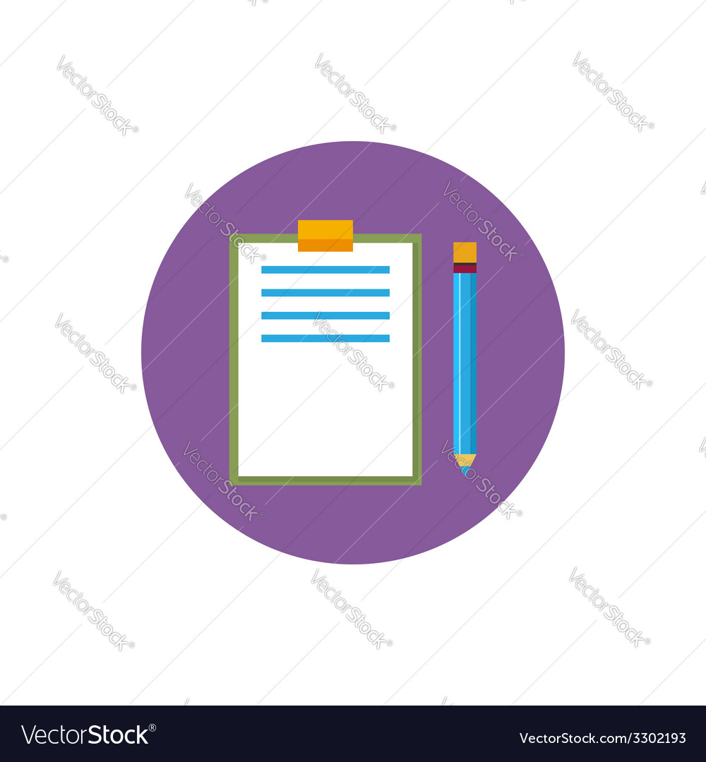 Clipboard with a pencil icon vector | Price: 1 Credit (USD $1)