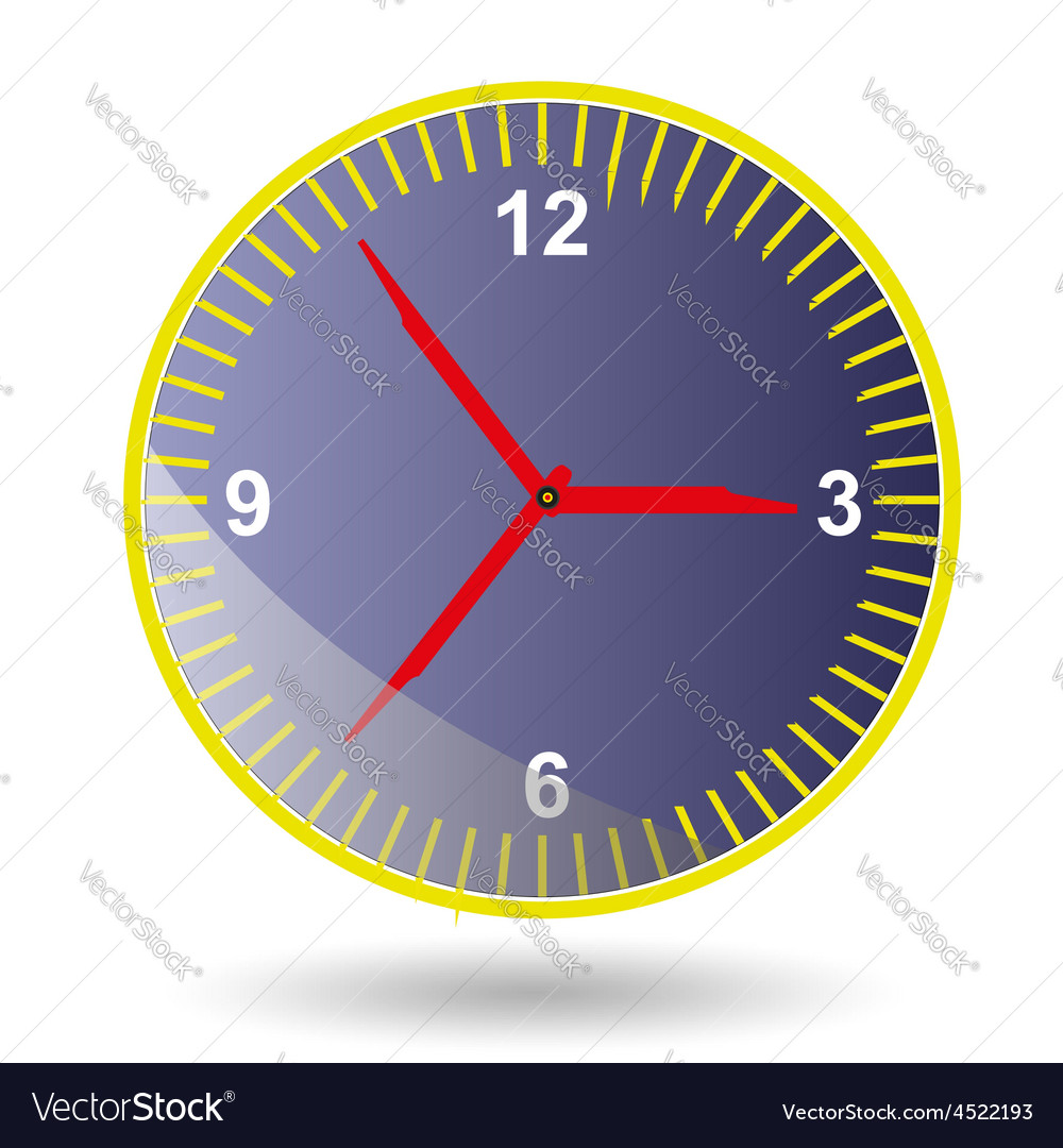 Clock-face setting conception reminder science num vector | Price: 1 Credit (USD $1)