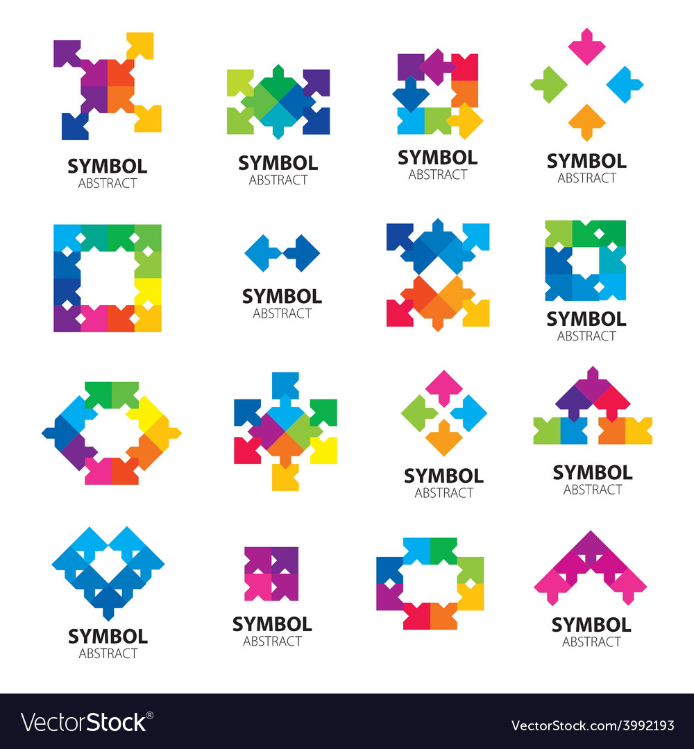 Collection of logos of abstract modules vector | Price: 1 Credit (USD $1)