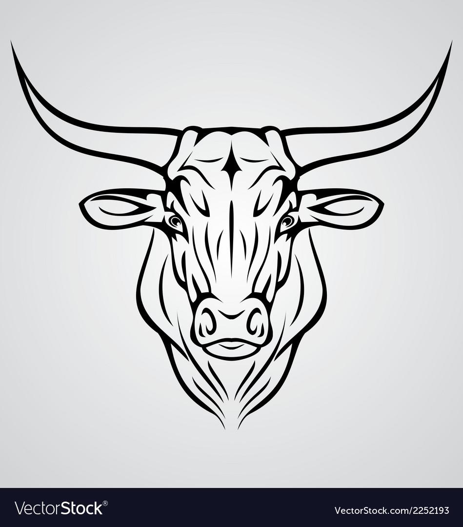 Cow head vector | Price: 1 Credit (USD $1)