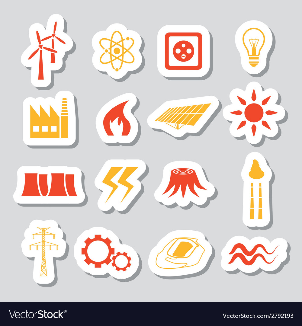 Energy stickers vector   Price: 1 Credit (USD $1)