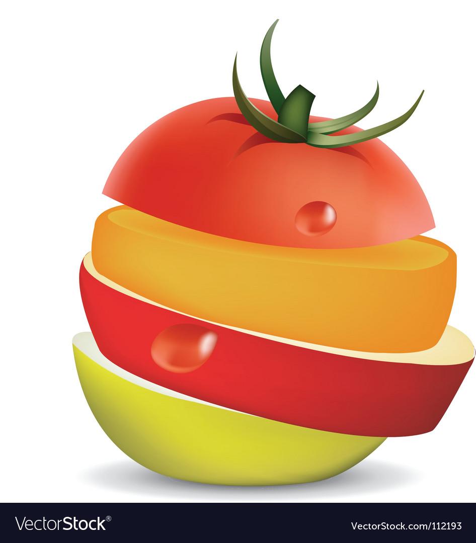 Fruit slice vector | Price: 1 Credit (USD $1)