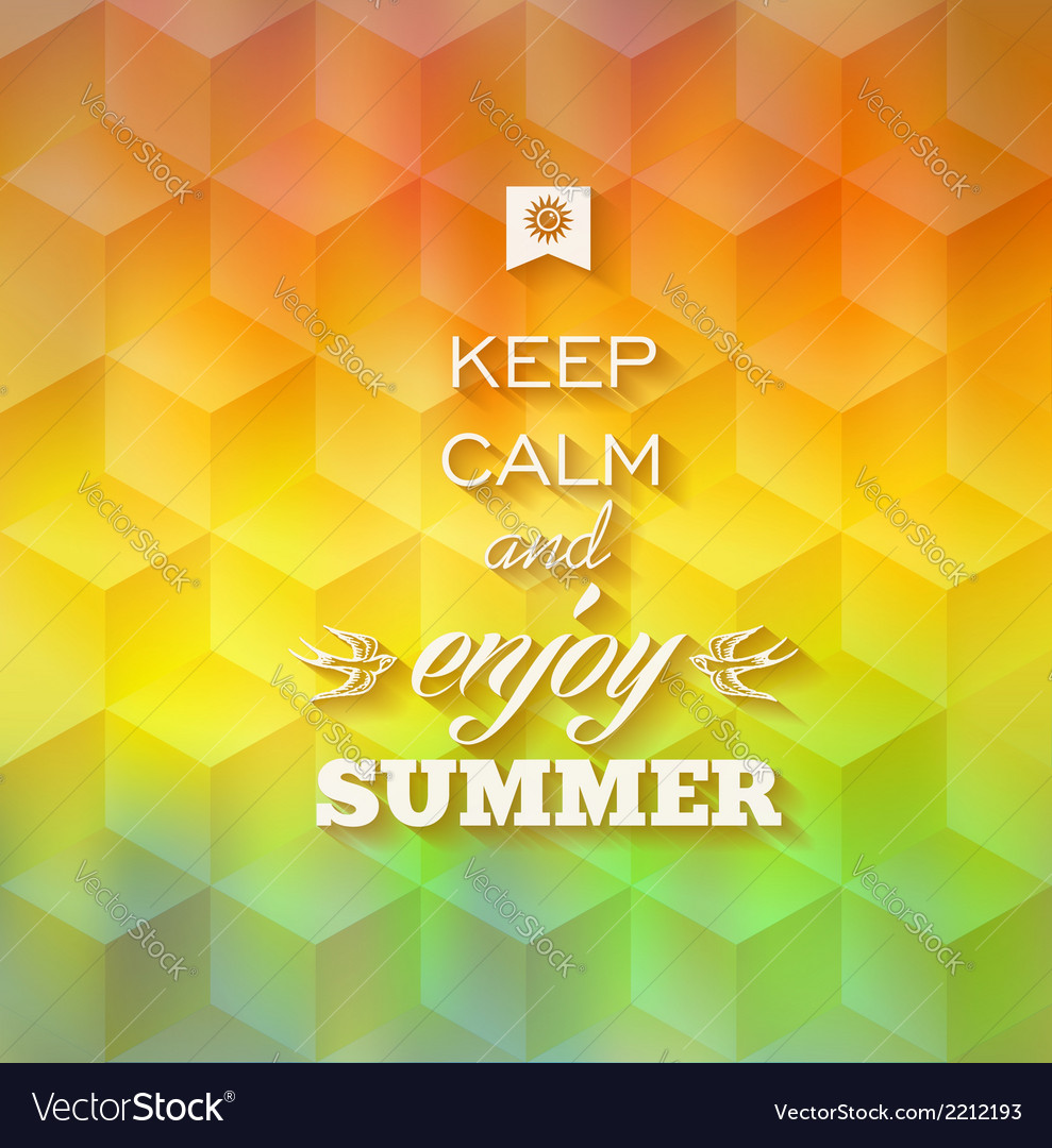 Hipster summer background vector | Price: 1 Credit (USD $1)