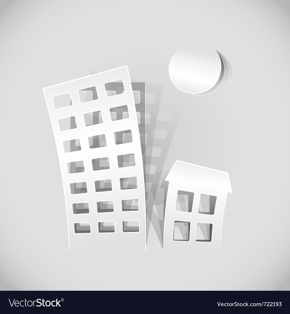 Paper building popout vector | Price: 1 Credit (USD $1)