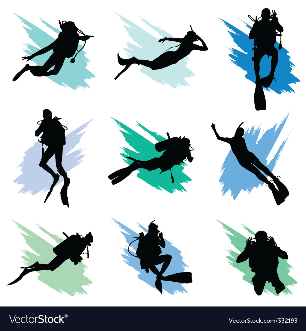 Scuba diving vector | Price: 1 Credit (USD $1)