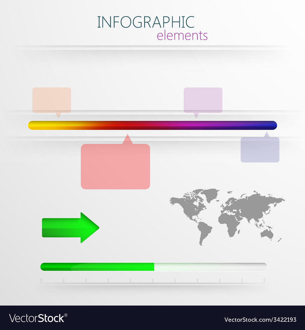 Set of abstract 3d paper infographic elements for vector   Price: 1 Credit (USD $1)