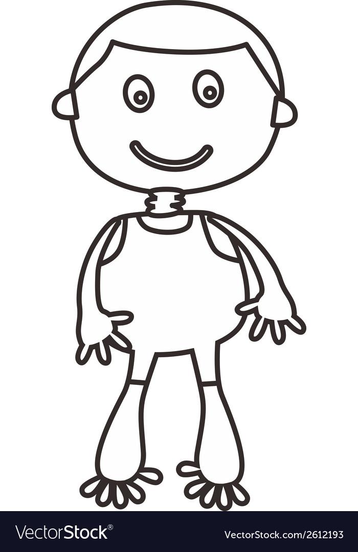 Simple child design vector | Price: 1 Credit (USD $1)