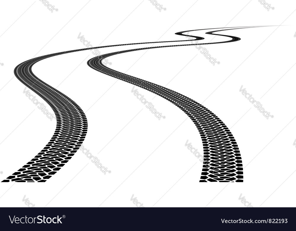 Tire track vector | Price: 1 Credit (USD $1)