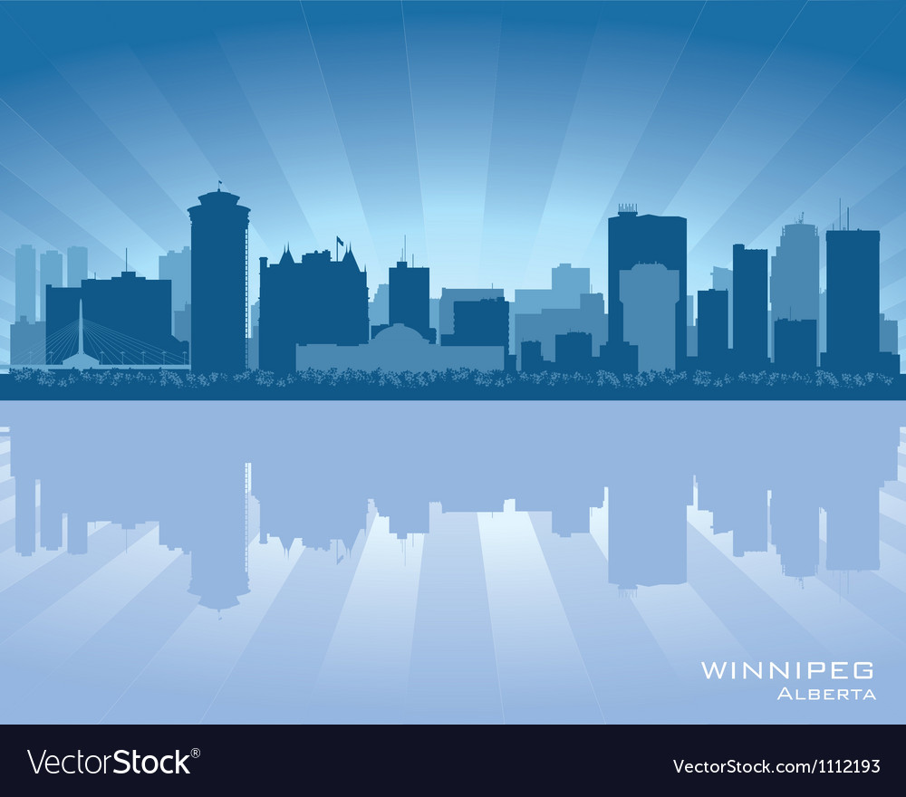 Winnipeg canada skyline vector | Price: 1 Credit (USD $1)