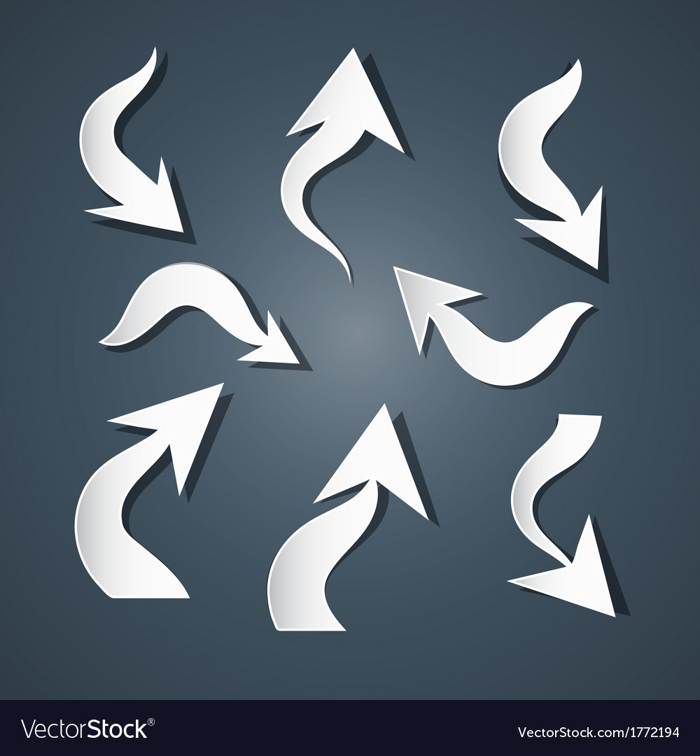 Abstract paper arrows set vector | Price: 1 Credit (USD $1)
