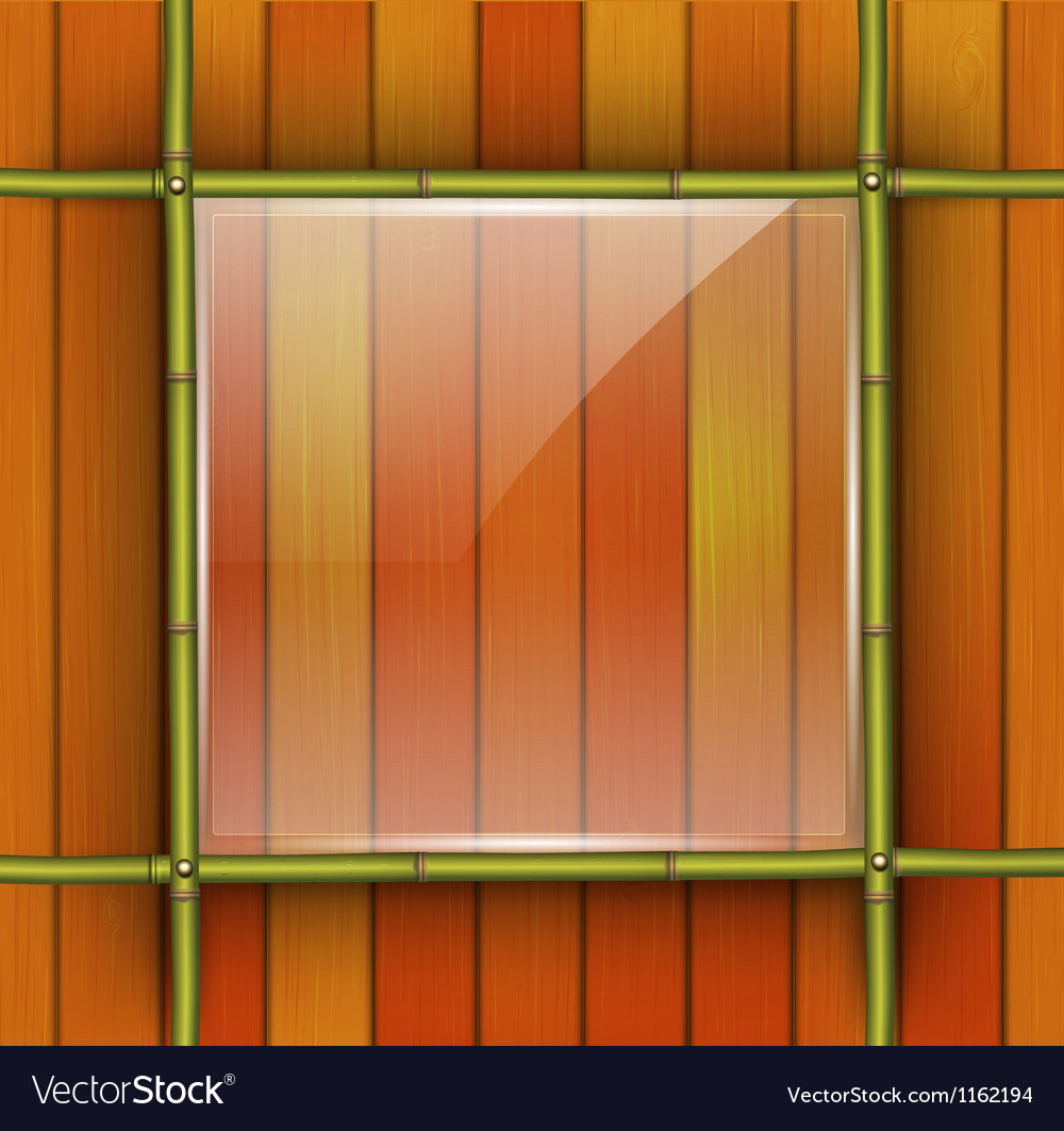 Bamboo frame with glass banner vector | Price: 1 Credit (USD $1)