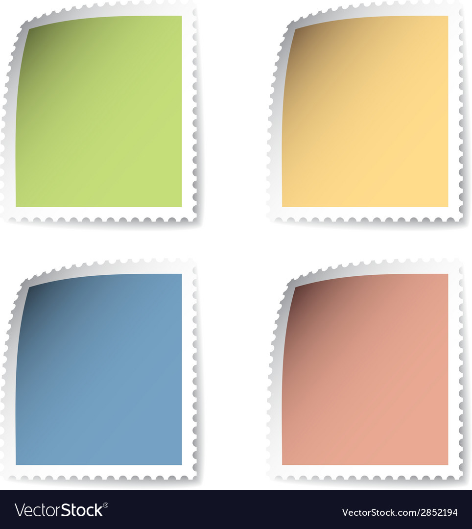 Blank post stamp vector | Price: 1 Credit (USD $1)